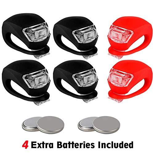 TBoonor LED Blinklicht LED Kinderwagen Set LED Sicherheitslicht Silikon LED Lampe für Kinderwagen (4X LED Weißlicht & 2X LED Rotlicht) -