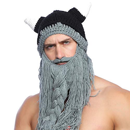 Gorro con barba Vikinga.