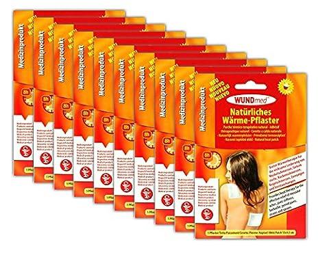 10x Wärme-Pflaster | Schmerzpflaster Wärmepads Rücken Schulter | Wärmepflaster (Voltaren Salbe)