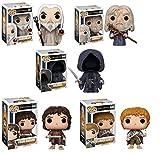 Funko der Herr der Ringe Pop. Vinyl Figur Set: Frodo, Gandalf, Samweis gamdschie (Sam), Saruman, nazqul