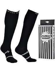 Calcetines de compresión para hombres y mujeres, EveShine Calcetines de correr para Deportes, Calcetines Ultra Ligeros para Correr, Ciclismo, Triatlón