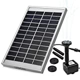LEDGLE 5W Solar Fountain Pump Garden Water Pump for Courtyard,Maximum Flow 380L/h