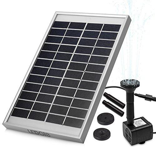 LEDGLE- Un Mundo, Una Luz.   Esta es una Fuente solar ecológica con diseño moderno. Es muy fácil de instalar y poder usarla, no tendrás problemas a la hora de usarla. Es flexible para que puedas colocarlo en cualquier lugar, no necesita tornillos ...