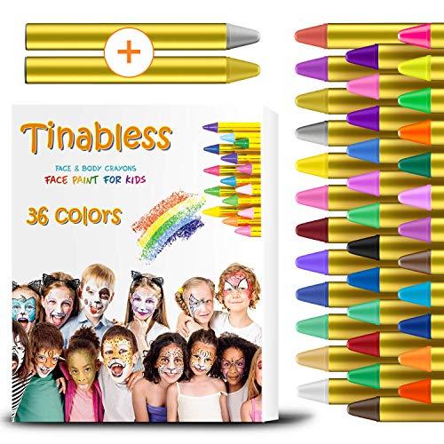 Vernice per bambini HENMI 36 colori, trucco bodypaint per bambini, facile da pulire, ideale per feste, pasqua, halloween