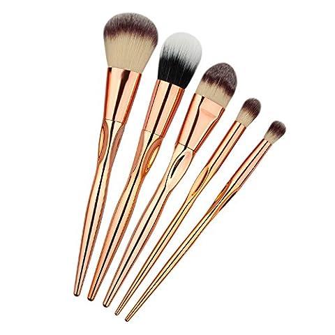 Makeup Brushes, Molie 5pcs Make Up Brush Set Professional Foundation Eyeshadow Brush Kit,