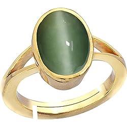 Gemorio cat's eye Lehsunia 8.3cts or 9.25ratti stone Panchdhatu Adjustable Ring For Women