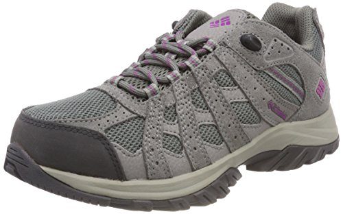 Columbia CANYON POINT WATERPROOF, Scarpe da trekking da donna Impermeabili Grigio (Charcoal/Razzle), 40.5 EU