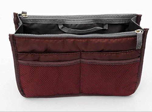 Caomoa Handtaschen-Beutel-Beutel im Beutel-Organisator-Einsatz-Organisator-saubere Spielraum-kosmetische Tasche Wine Red