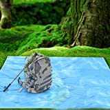 Fenghezhanouzhou Fenghezhanouzhou Bluefield Outdoor Picknick Strandmatte Isomatte Zelt Decke Wasserdicht Feuchtigkeitsfest Tragbare Matratze mit Aufbewahrungstasche 8 Löcher