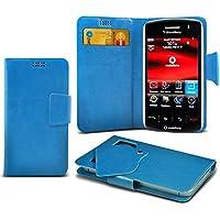 (Baby Blue) Blackberry Storm 9500 Mega sottile Protezione in ecopelle ventosa Custodia a portafoglio Pelle Copertura Caso Cover con carta di credito/debito Slot Aventus