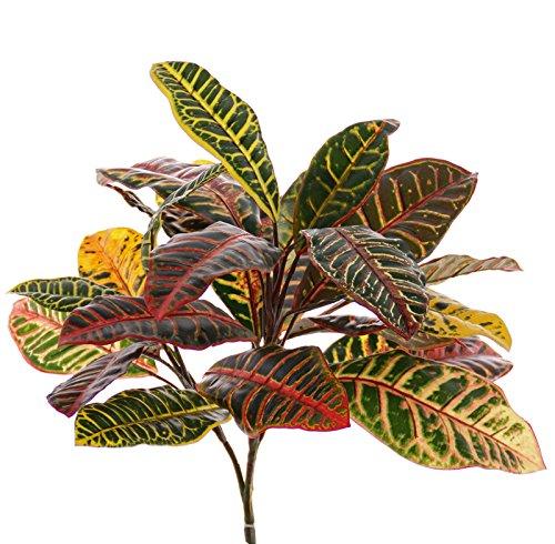 artplants Künstliche Kroton Pflanze JOMI auf Steckstab, bunt, 50 cm – Künstliche Pflanze/Croton Pflanze