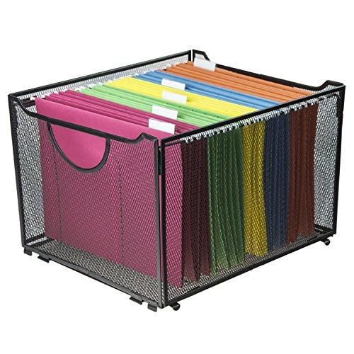Modern Schwarz Metall Mesh Datei Karton/Faltbare Box Aufbewahrungsbox/Home Office Ordner Holder Organizer Rack
