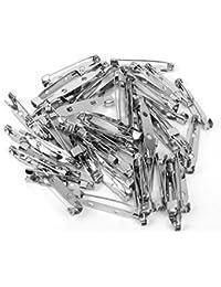 50 Stueck Brosche Sicherheitsnadeln Bar Pins 32mm