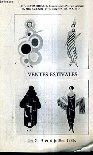 CATALOGUE DE VENTES AUX ENCHERES - BON MOBILIER CERAMIQUES PORCELAINES FAIENCES BRONZES ET EXTREME ORIENT BONS BIBELOTS ETAINS ET CUIVRES SOLDATS DE PLOMB TABLEAUX AQUARELLES PASTELS ESTAMPES ETC - 25 ET 26 JANV. 1986 . par FEYDY BIRABEN