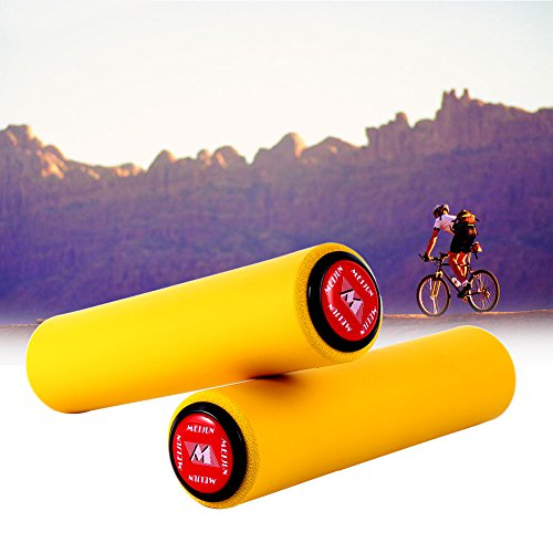 Haofy Super Light Lenker Griff Anti-rutsch-stoßfest Silica Gel Grip Mit Endstopfen Für Fahrrad 1 Para (yellow)
