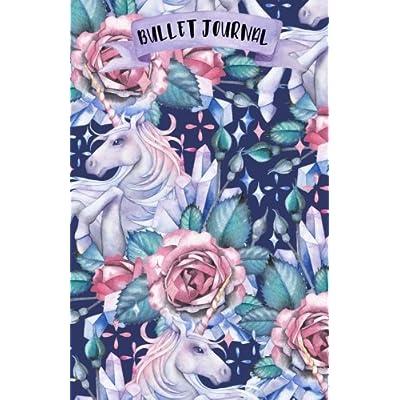 Bullet Journal: A5 Licorne - 120 pages - couverture souple 'glossy' - Pointillés - Dot point, bullet journal, dot grid, planner, planning, organizer, journal, Licornes, Bujo