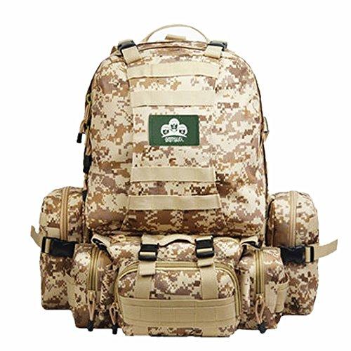 Militär Armee Wanderrucksäcke Rucksack 45L-60L 900D Nylon mit wasserdichter und langlebigen multifunktionale Reisetasche Tasche Wandern /...