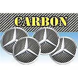Adhesivos para ruedas de Mercedes, imitación de carbono, para tapacubos de todos los tamaños, 3D