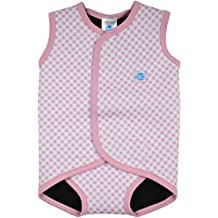 Splash About, Costume da bagno in neoprene per neonati, Rosa (Pink Gingham), 0-6 mesi
