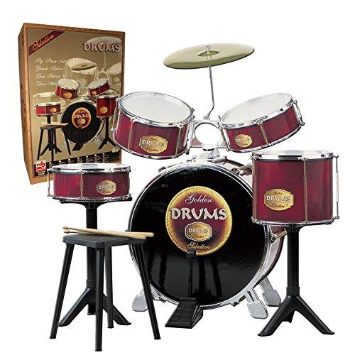 Reig 726 - Golden Drums Set Batteria, Grande, Rosso