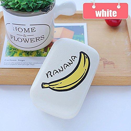 BENHAI Creative 1 PC Objektiv home Wohnen Küche Supplies Obst Wassermelone Zitrone Kiwi Leder Linse Box Kontakt Neuheit Fall Container Container (Objektiv Weiß Kontakt)