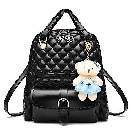 Gesteppte Rucksack Umhängetasche Süßer Bär Schulter Tasche Damen Daypacks Schulranzen (Schulter Vintage Tasche Gesteppte)