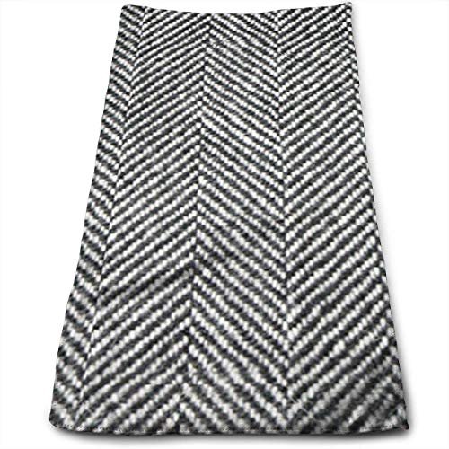 sexy world Towels Herringbone Tweed Black White Face Towels Highly Absorbent Towels for Face Gym and Spa 11,8 x 27,5 Zoll Herringbone Tweed Cap