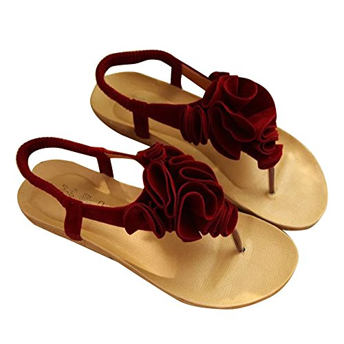 Longra Donne sandali di gomma Rosso