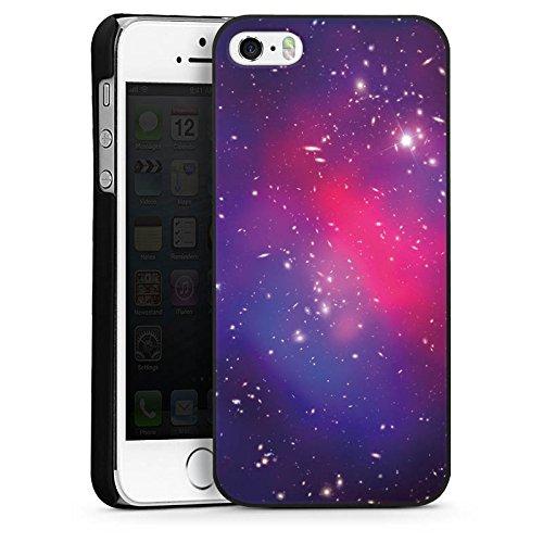 Apple iPhone 5s Housse Étui Protection Coque Univers Galaxie Espace CasDur noir