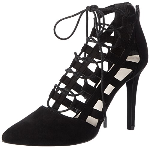 BIANCO - Laced Up Party Son16, Scarpe col tacco Donna Nero (Schwarz (Black/10))