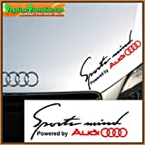 "Pegatina Vinyl-Sticker ""Sportmind Audi"", 30cm, Auto, Wandsticker"
