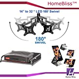 """HomeBliss Combo Of LED TV Moving Stand 14"""" To 32"""" And Set Top Box Stand And Mobile Phone Metal Stand/Holder For Smartphones"""