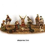 Statuine presepe (11pz) 'Festar' Due Esse Christmas 9cm