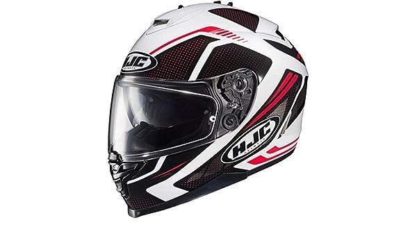 HJC 101401M Casco Moto Bianco//Rosso M