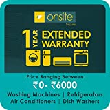 #7: Onsite 1-year extended warranty for Large Appliance (Rs. 0 to < 6000)