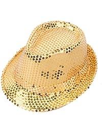 Leisial Chapeau Haut de Forme pour Adulte et Enfant en Paillettes Chapeau de  Performance Chapeau Parent 81fd59fcbc5