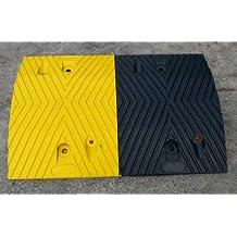 Speed Hump Negro-Amarillo Medio Parte 50x35x5cm