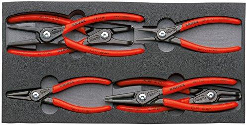 """KNIPEX 00 20 01 V02 Zangen-Set """"SRZ"""" sechs Präzisions-Sicherungsringzangen in Schaumstoffeinlage"""