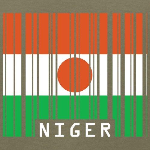 Niger / Republik Niger Barcode Flagge - Herren T-Shirt - 13 Farben Khaki