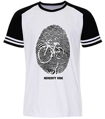 PALLAS Unisex's Bicycle Cycling Heridity Ride T-Shirt White Sleeve Black