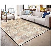 120x180cm, Teppich Anpassen | Nordic Minimalistischen Modernen Quadratischen  Gitter Wohnzimmer Couchtisch Schlafzimmer Teppich,,