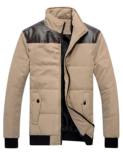 Manteau pour Hommes Veste D'hiver Chaude Blouson Parka Doudoune Kaki
