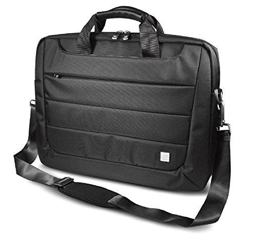 bcf651643639 Klip Xtreme Insignia Laptop Briefcase- Wasserabweisend Nylon Passt für bis  zu 43,9 cm Laptop/, Dual Seitliche Eingriffstaschen, Reißverschluss ...