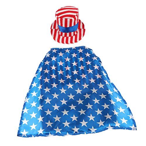 F Fityle Haustier Kostüm Outfit Hund Katze Amerikanische Flagge Party Männlich Anzug Hut Kostüm - - Männlichen Hunde Kostüm