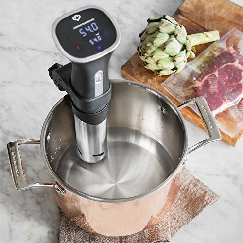Sous-Vide-Stick Henry von Springlane Kitchen 800 Watt Niedrigtemperatur-Garer mit LED Display, Umwälzpumpe und Abschaltautomatik - 5