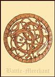 Midgardschlange aus Holz, handgeschnitzt - Wandschmuck - Wikinger - Germanen - Kelten - Edda