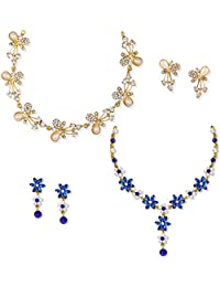 Zaveri Pearls Combo Of 2 Fashion Diva Necklace Set For Women-ZPFK6504