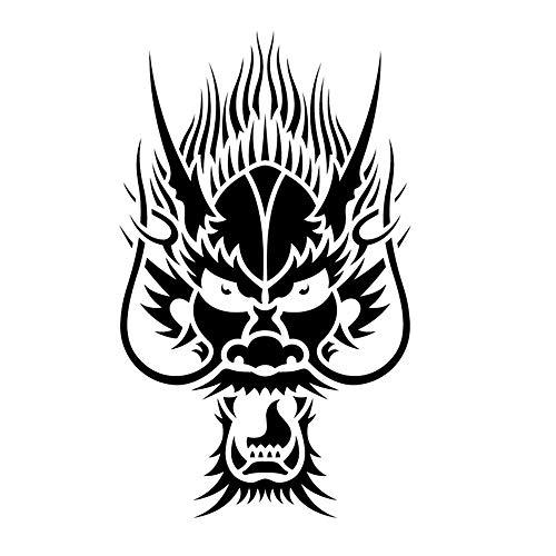 sswymx Oriental Dragon Head Wandaufkleber Lustige Tierkopf Wandaufkleber Wohnkultur Kunstwand Wandtattoos Hauptdekorationen weiß 42X70 cm (Halloween Sauber, Lustig, Cartoons)