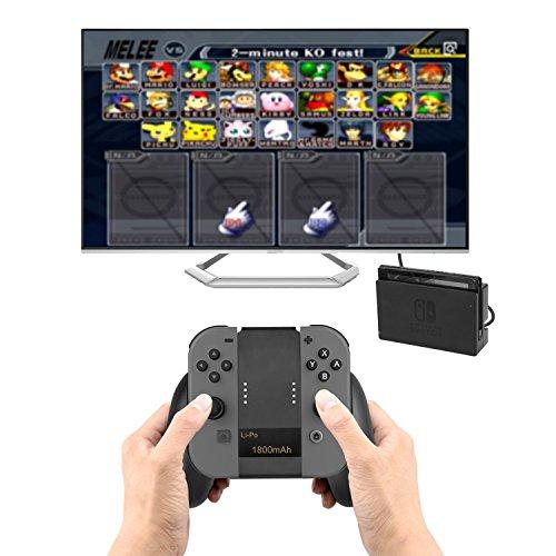 PECHAM-Joy-Con-Charging-Grip-con-batteria-da-1800mAh-Comfort-Grip-Supporto-Caricatore-portatile-per-Nintendo-Switch-Controller-Maniglia-Nero