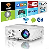 EUG WXGA LCD Bluetooth HD Wifi Projector 4200 Lumen 1080P Wireless Smart Android